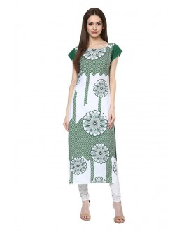 Party Wear Readymade Multi-Colour Crepe Kurti - 50334