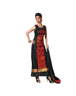 Party Wear Readymade Multi-Colour Taffeta Kurti - 50404