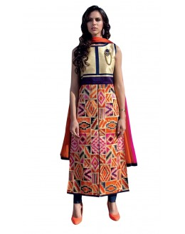 Festival Wear Readymade Multi-Colour Taffeta Kurti - 50410