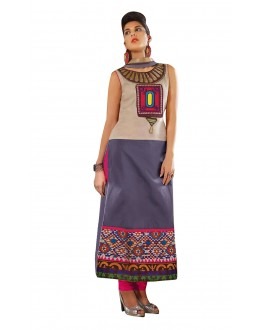 Wedding Wear Readymade Multi-Colour Taffeta Kurti - 50411