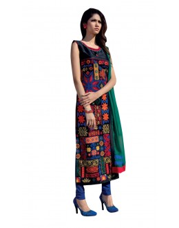 Festival Wear Readymade Multi-Colour Taffeta Kurti - 50413