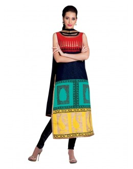 Wedding Wear Readymade Multi-Colour Taffeta Kurti - 50415