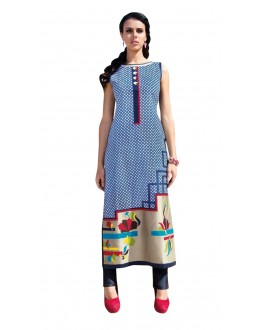 Festival Wear Readymade Multi-Colour Taffeta Kurti - 50418