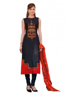 Traditional Wear Readymade Multi-Colour Taffeta Kurti - 50419