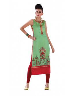 Casual Wear Readymade Multi-Colour Taffeta Kurti - 50420