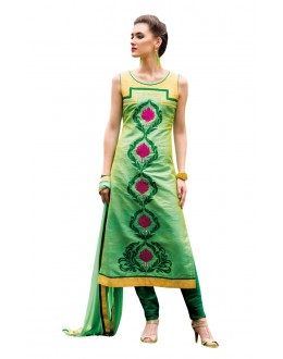Traditional Wear Readymade Multi-Colour Taffeta Kurti - 50425