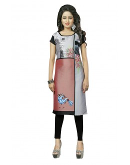 Traditional Wear Readymade Multi-Colour Crepe Kurti - 50432