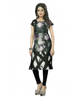 Ethnic Wear Readymade Multi-Colour Crepe Kurti - 50434