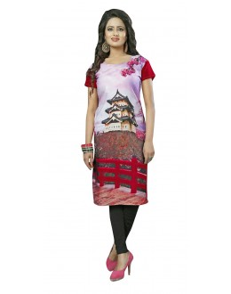 Traditional Wear Readymade Multi-Colour Crepe Kurti - 50441