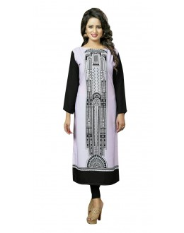 Party Wear Readymade Multi-Colour Crepe Kurti - 50445