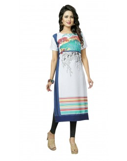 Party Wear Readymade Multi-Colour Crepe Kurti - 50449