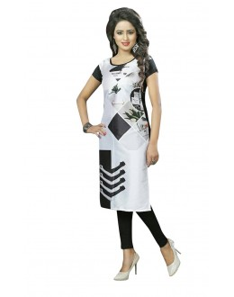 Wedding Wear Readymade Multi-Colour Crepe Kurti - 50450