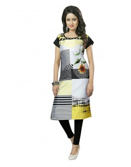 Traditional Wear Readymade Multi-Colour Crepe Kurti - 50452