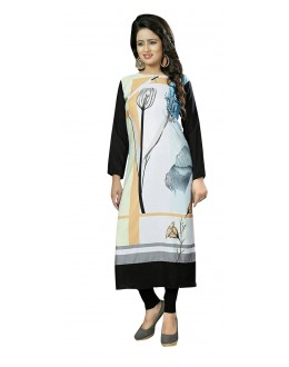 Festival Wear Readymade Multi-Colour Crepe Kurti - 50453