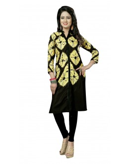 Casual Wear Readymade Multi-Colour Crepe Kurti - 50455
