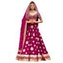 Bollywood Replica Pink Embroidered Lehnega Choli - 60073