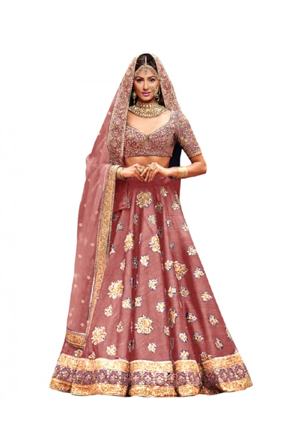 Bollywood Replica Peach Lehnega Choli - 60078