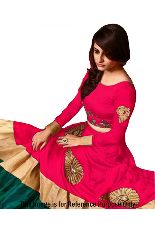 Bollywood Replica -  Traditional Pink Banglori Silk Lehenga Choli - 60101