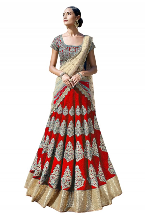 Bollywood Replica -  Festival Wear Red Lehenga Choli - 60123
