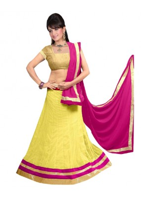 Bollywood Replica -  Navratri Special Yellow Lehenga Choli - 60143