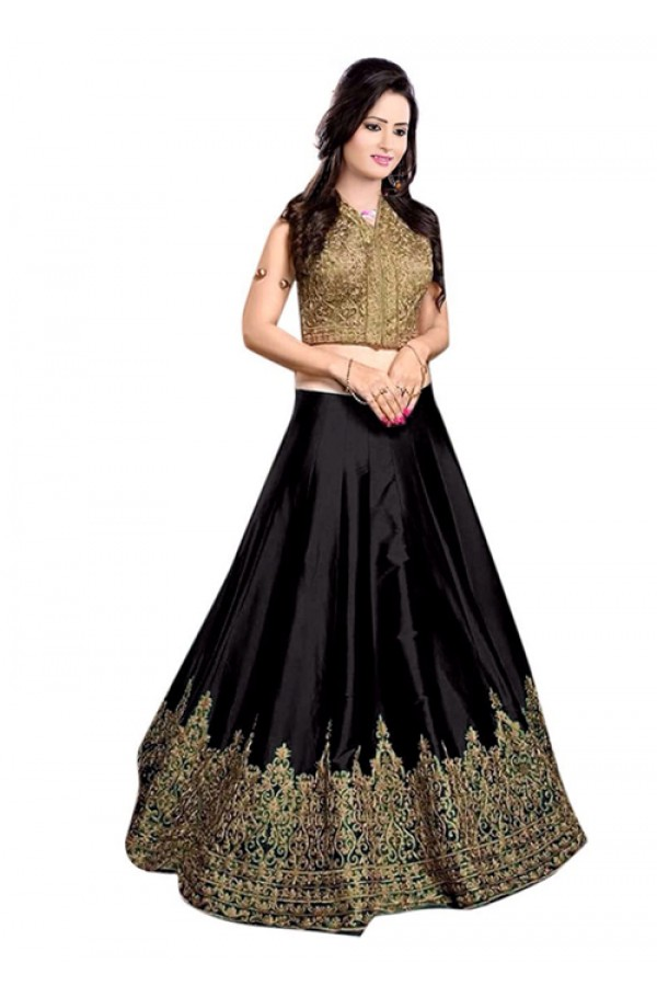 Bollywood Replica -  Designer Black Lehenga Choli - 60147H