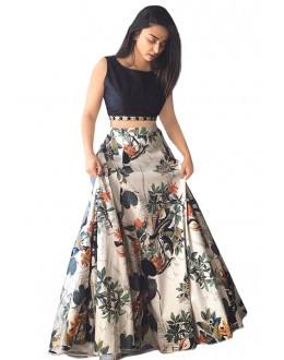 Party Wear Multicolour & Black Lehenga Choli - 60227