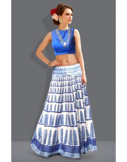 Bollywood Replica - Traditional White Lehenga Choli - 60235