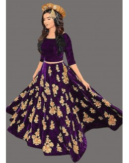 Bollywood Inspired  - Party Wear Purple Lehenga Choli - 60223A