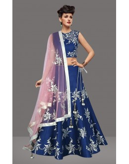 Bollywood Inspired  - Traditional Blue Lehenga Choli - 60276