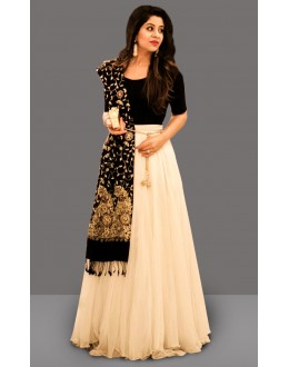 Bollywood Inspired  - Festival Wear Off White Lehenga Choli - 60278