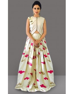 Bollywood Inspired  - Traditional Off White Lehenga Choli - 60279