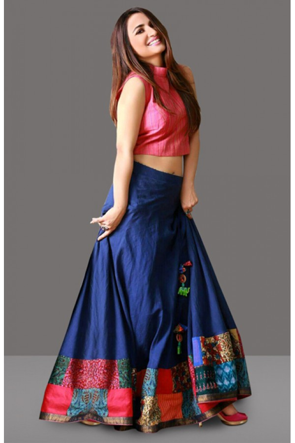 Bollywood Inspired  - Fancy Blue Lehenga Choli - 60282