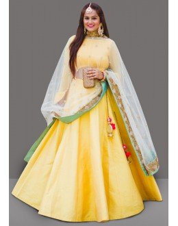 Bollywood Inspired  - Ethnic Wear Yellow Lehenga Choli - 60283