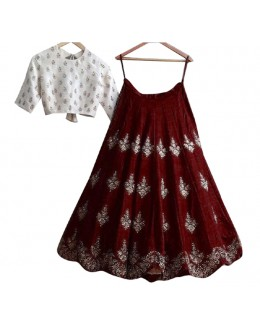 Bollywood Inspired  - Festival Wear Brown Lehenga Choli - 60323B