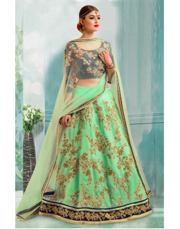 Bollywood Inspired  - Designer Green Lehenga Choli - 60334