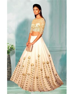 Bollywood Inspired  - Designer White Lehenga Choli - 60340