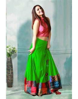 Bollywood Inspired - Banglori Silk Crop Top Lehenga  - 60282D