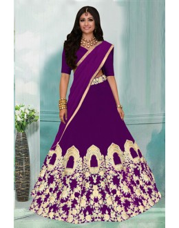 Festival Wear Purple Tafeta Lehenga Choli -60350D