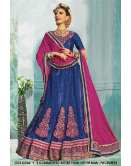 Festival Wear Blue Net Lehenga Choli - 60469