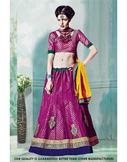 Purple Colour Net Attractive Lehenga Choli - 60517