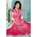 Party Wear Pink Georgette Anarkali Suit  - 70265