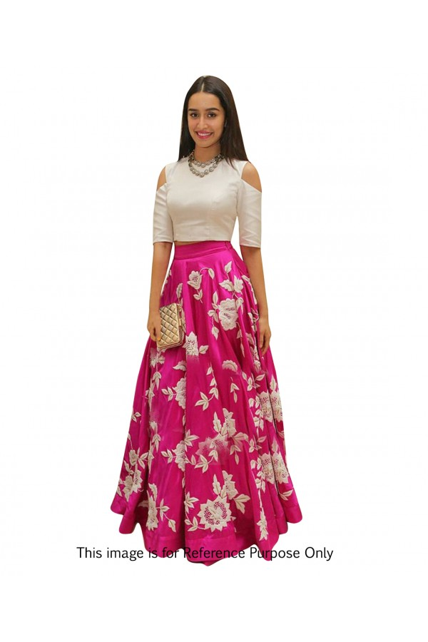 Shraddha Kapoor In Pink & White Crop Top Lehenga  - 70571