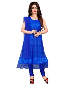Ethnic Wear Blue Net Anarkali Suit - EBSFSK09101AA