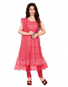 Festival Wear Peach Net Anarkali Suit - EBSFSK09101BB