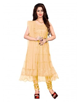 Party Wear Cream Net Anarkali Suit - EBSFSK09101CC