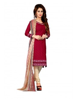 Office Wear Maroon Art Silk Salwar Suit- 70739