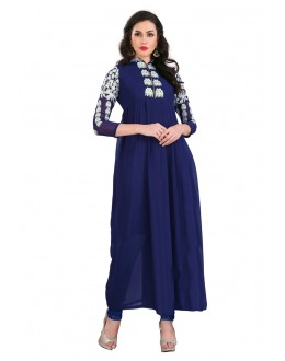 Ethnic Wear Blue Faux Georgette Anarkali Suit - EBSFSK17721A