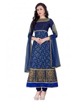 Festival Wear Blue Santoon Anarkali Suit - EBSFSK223061B