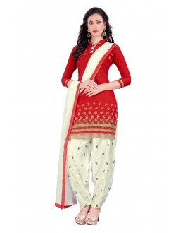 Festival Wear Red Unstitched Salwar Suit - EBSFSK291001