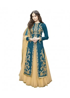 Wedding Wear Rama Bhagalpuri Lehenga Suit -  70631